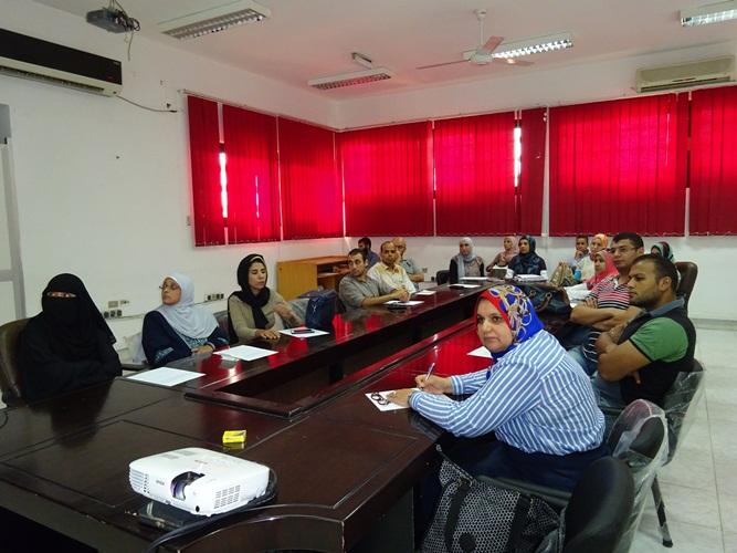 دورة تدريبية عن إدارة الوقت والاجتماعات بمركز تطوير التعليم الجامعي بجامعة قناة السويس