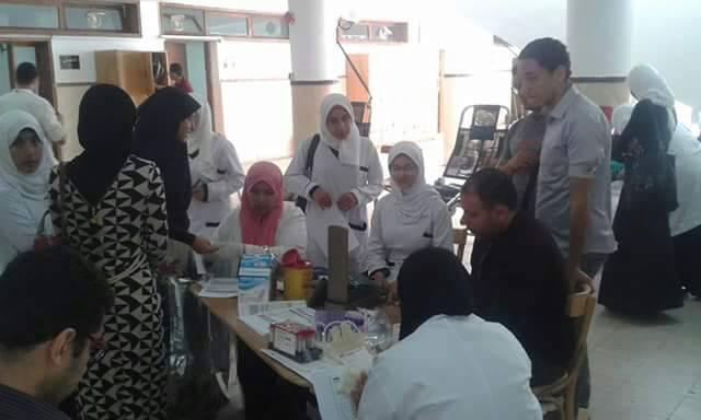 حملة التبرع بالدم بتمريض القناة