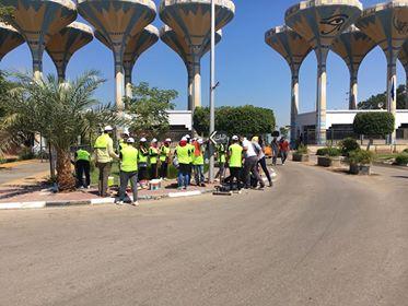 طلاب جامعة قناة السويس يساهموا فى إستعدادات الجامعة لإستقبال العام الجامعى الجديد
