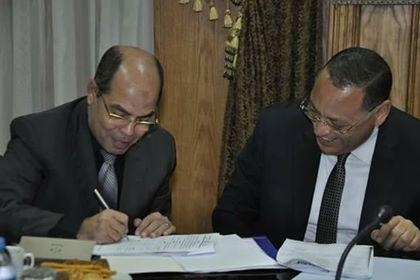 بروتوكول تعاون بين المستشفى التخصصى بجامعة قناة السويس والمديرية المالية