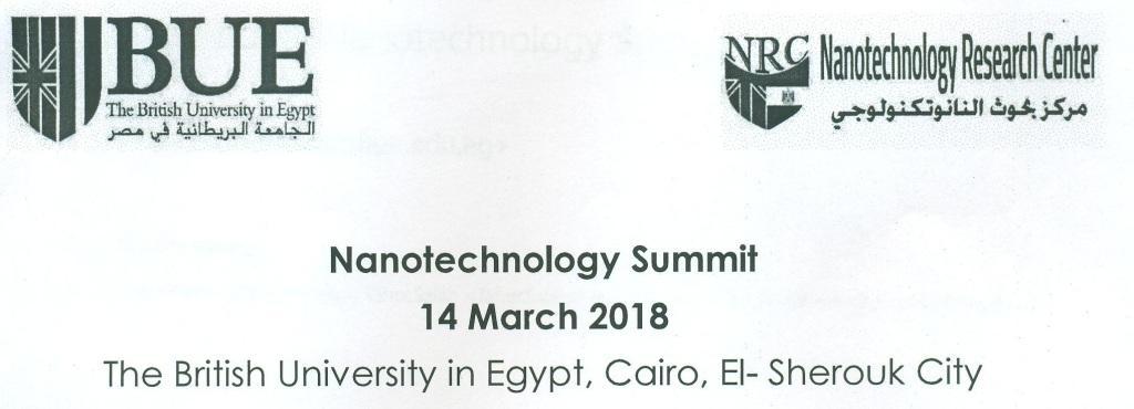 دعوة لحضور المؤتمر النانوتكنولوجي الدولى فى الجامعة البريطانية بمصر