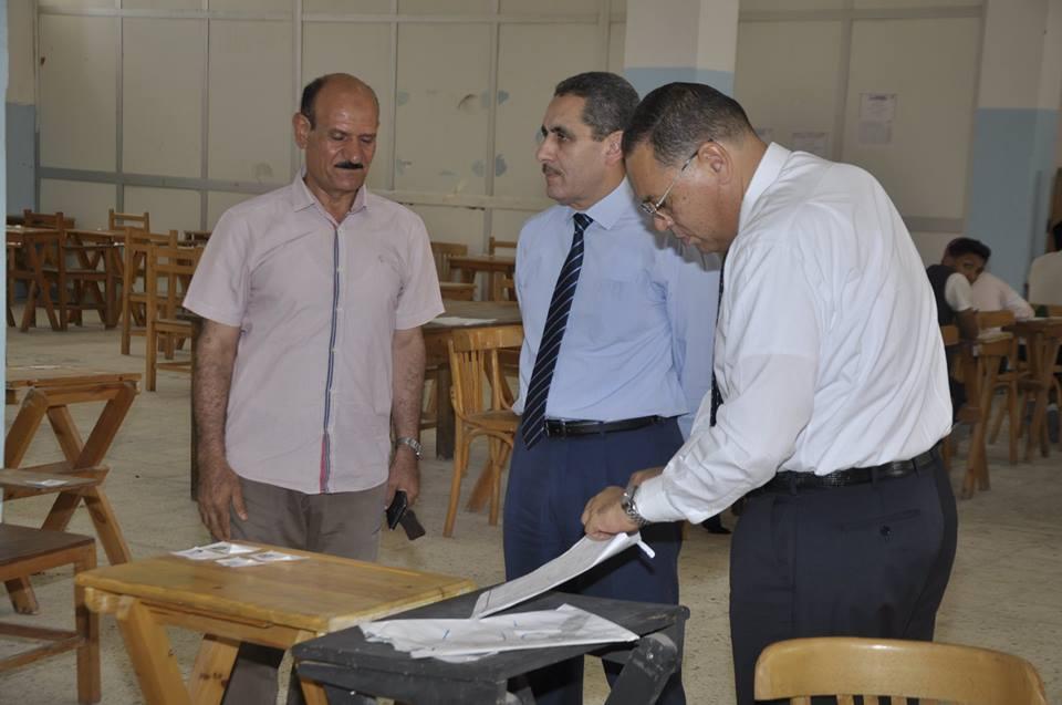 استمرار متابعة رئيس الجامعة ونائب رئيس الجامعة لأعمال الامتحانات بجامعة قناة السويس