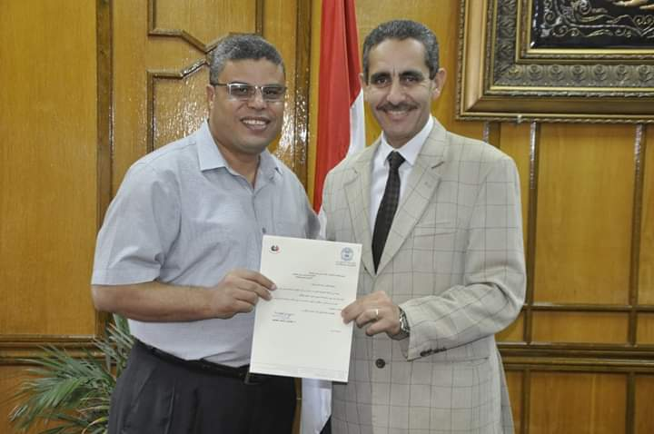 تكليف الأستاذ الدكتور شقيدف نائبا لرئيس جامعة القناه