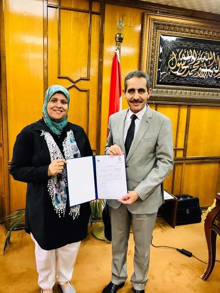 الأستاذة الدكتورة وفاء عبد العظيم عميدا لكلية تمريض القناه