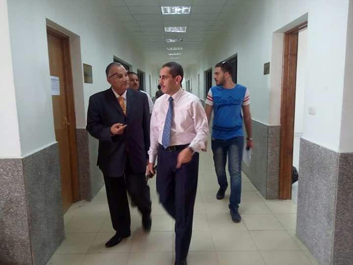نائب رئيس الجامعة لشئون التعليم والطلاب يتابع انتظام العملية التعليمية فى اليوم الأول لبدء الدراسة بجامعة قناة السويس