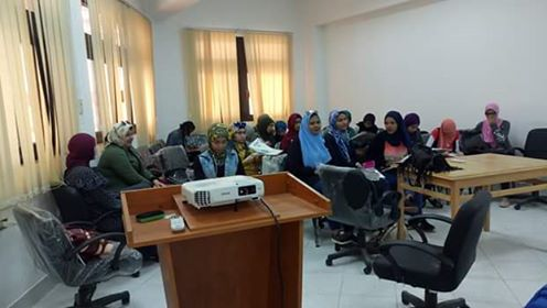 Artistic activities for a Child seminar at Knowledge Embassy at Suez Canal University