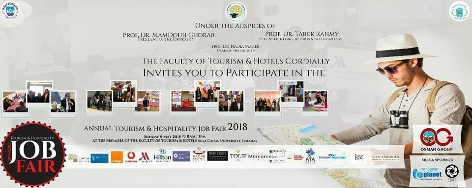 """""""The annual recruitment forum for tourism, hotels and hospitality 2018"""" Faculty of Tourism and Hotels Suez Canal University"""