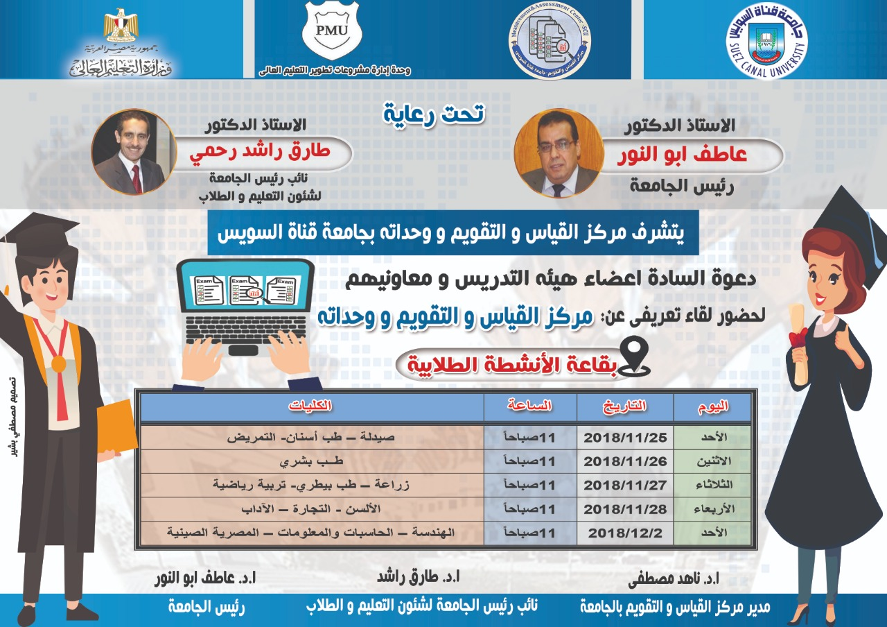 Introductory meeting the center of measurement and evaluation and its units at Suez Canal University