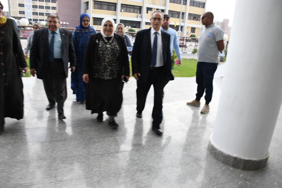 Suez Canal University President Follow up preparation of the units of Measurement and Assessment center for the follow-up visit and technical support